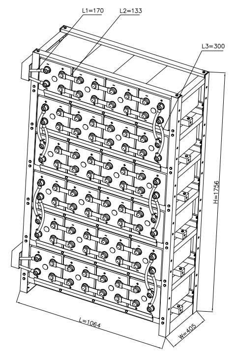 Solar Battery Bank Racking REXC800-48v
