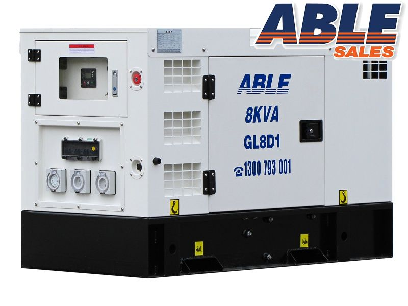 Able 8 Kva 240v Diesel Generator Water Cooled Solar