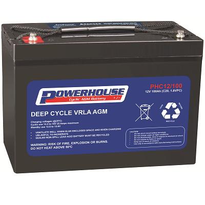 Powerhouse Phc 12v 100ah Cyclic M8 Treminal Solar